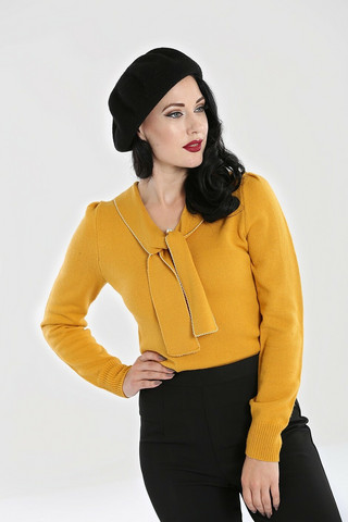 6653 HELL BUNNY CONNIE JUMPER, MUSTARD