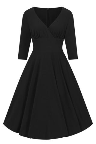 40130 HELL BUNNY PATRICIA 50´S DRESS, BLK