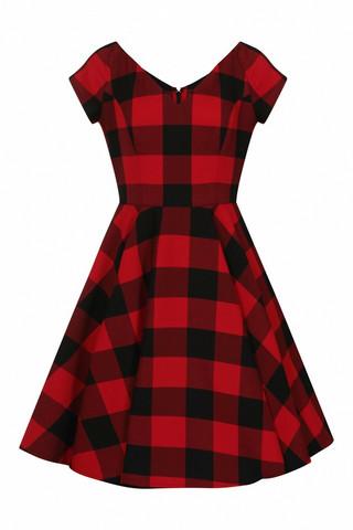 40113 HELL BUNNY TEEN SPIRIT MID DRESS, BLK/RED