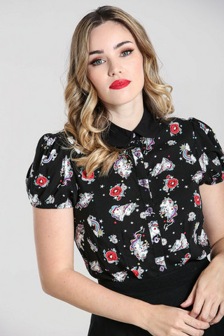 60081 HELL BUNNY STAR CATCHER BLOUSE