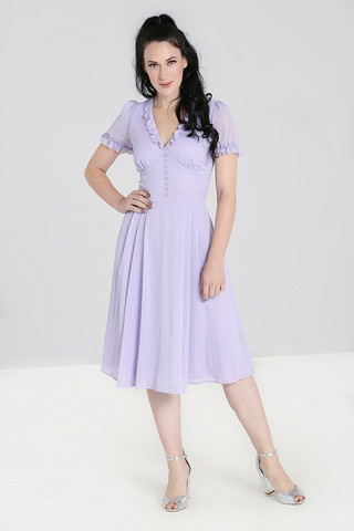 40168 FRILLY SUNDAE DRESS, LAV