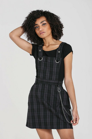 40133 HELL BUNNY STORM PINAFORE DRESS