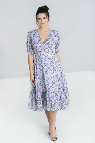 40179 HELL BUNNY WILLOW SPARROW DRESS, LAV