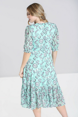 40179 HELL BUNNY WILLOW SPARROW DRESS, MINT