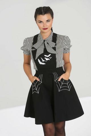 40014 HELL BUNNY MISS MUFFET PINAFORE DRESS
