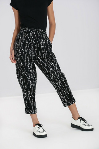 50114 HELL BUNNY BARBED WIRE TROUSERS