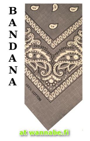 bandana, grey