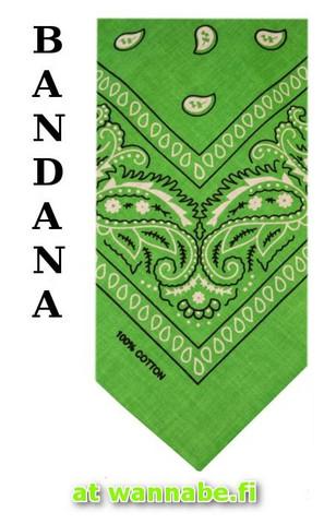 bandana, spring green