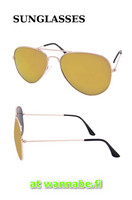 Aviator, color mirror, gold
