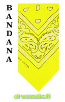 bandana, yellow