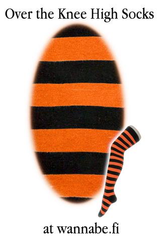 1002 Ylipolvensukat, stripe blk/or