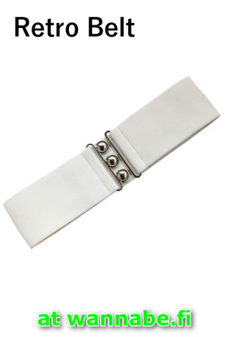 7065 HELL BUNNY RETRO BELT, WHITE