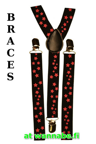 braces, star, blk/pink