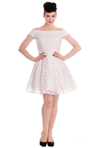 4361 Paris dress, wht, KOOT L