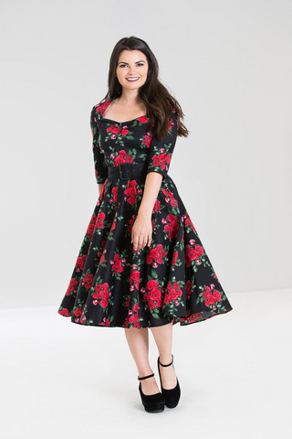 4292 HELL BUNNY Eternity 50´s dress, blk