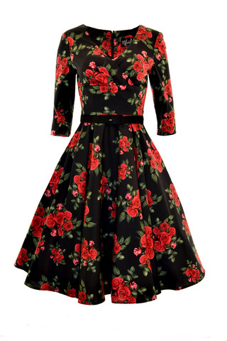 4292 HELL BUNNY ETERNITY 50S DRESS, BLACK