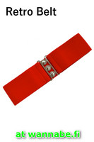7065 Retro Belt, red