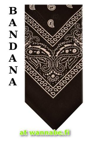 bandana, black/wht