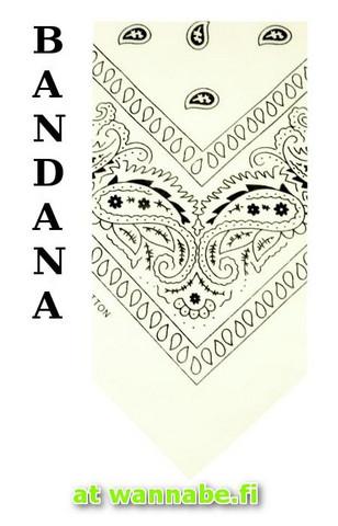 bandana, white