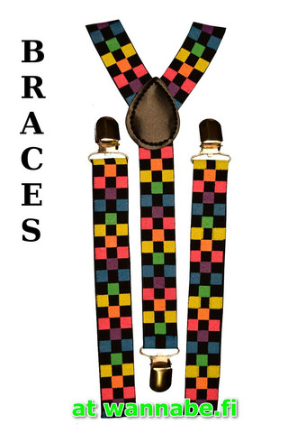 braces, ska, multicolor