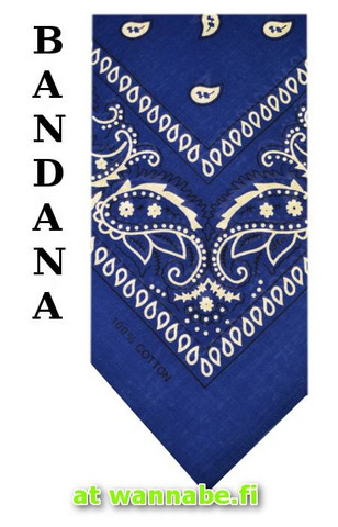bandana, mirage blue