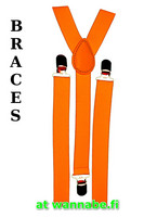 braces, plain orange