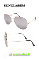 Aviator, color mirror, silver