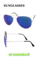 Aviator, color mirror, blu