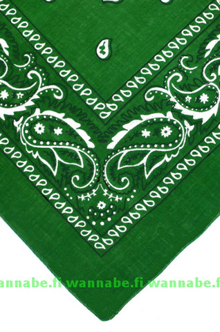 bandana, kelly green