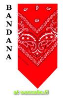 bandana, red