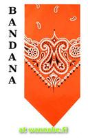 bandana, neon orange