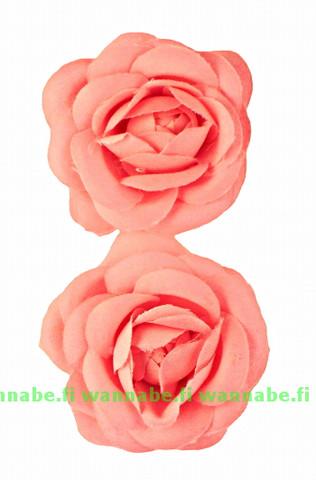 Rosette on clip, pink