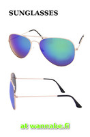 Aviator, color mirror, grn/blu