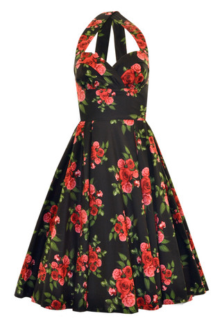 4254 HELL BUNNY CANNES 50S DRESS, BLACK