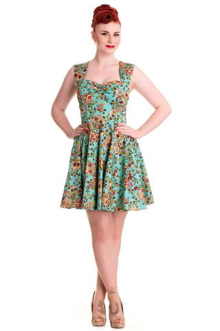 4453  Idaho dress, green