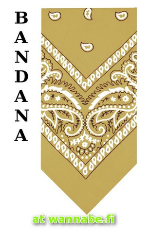 bandana, beige