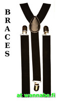 braces, plain black
