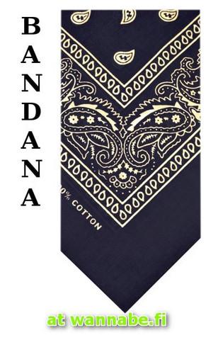 bandana, navyblue