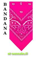 bandana, neon pink