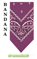 bandana, purple