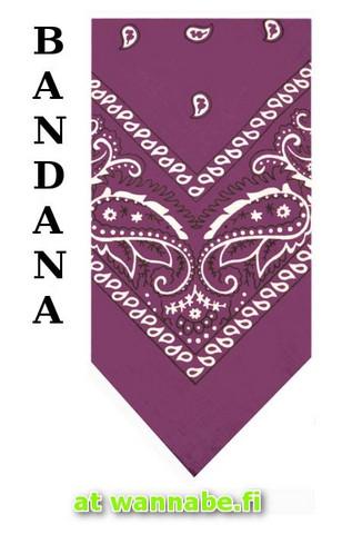 bandana, purple