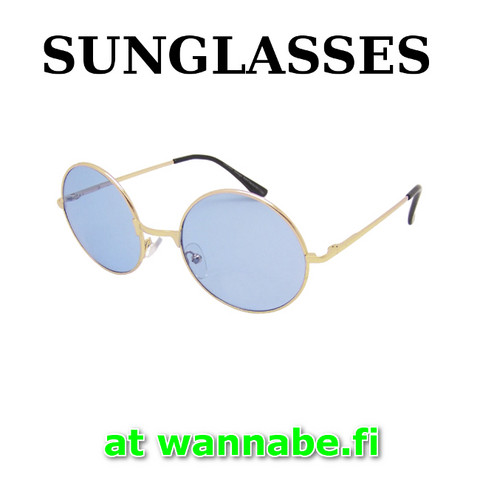 4009 Round model sunglasses, blu lens