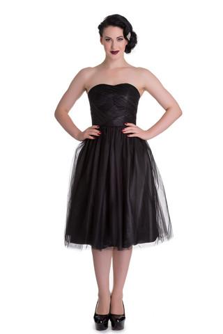 4504 HELL BUNNY TAMARA DRESS, BLK