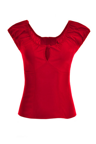 6505 HELL BUNNY MELISSA TOP, RED