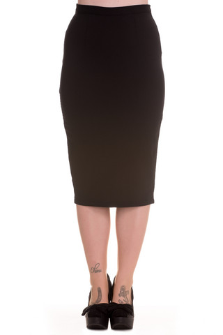 5324  Joni Pencil skirt, blk