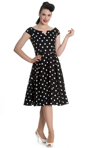 4639 HELL BUNNY Nicky 50´s dress, blk/wht