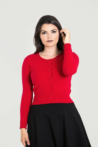 6349 HELL BUNNY PALOMA CARDIGAN, RED