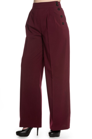 5394  Hubertine trousers, burg, KOOT S