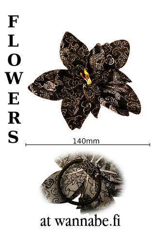 China flower, blk