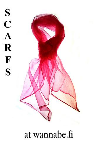 Sifonkihuivi, hot pink